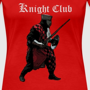 Rood Knight club Medieval Ridder T-shirts - Vrouwen Premium T-shirt