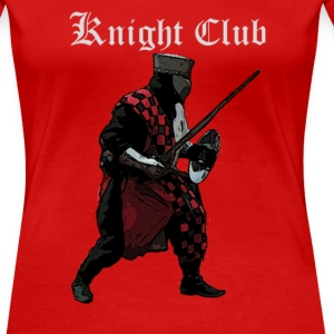 Red Knight fight Medieval Women's T-Shirts - Women's Premium T-Shirt
