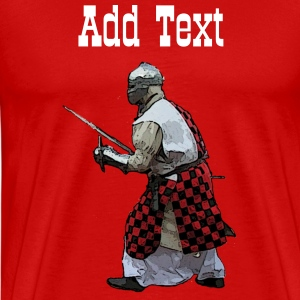 Red Medieval knight battle  Men's T-Shirts - Men's Premium T-Shirt