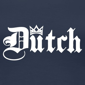 Navy Dutch with Crown T-shirts - Vrouwen Premium T-shirt