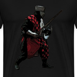 Black Medieval knight battle  Men's T-Shirts - Men's Premium T-Shirt