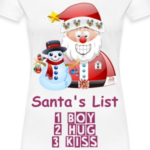 Santa's List Womans Girly Shirt - Women's Premium T-Shirt
