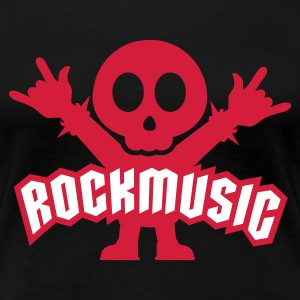 Schwarz Rock Music Metal Sign Two Fingers T-Shirts - Frauen Premium T-Shirt