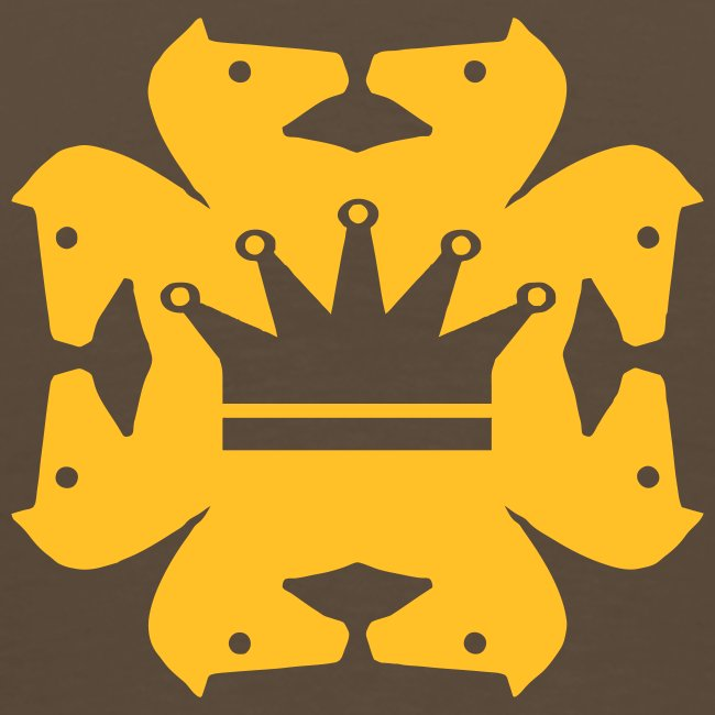 Acht Springer mit Krone beidseitig