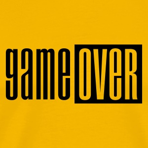 Gul Game over deluxe T-shirts - Herre premium T-shirt