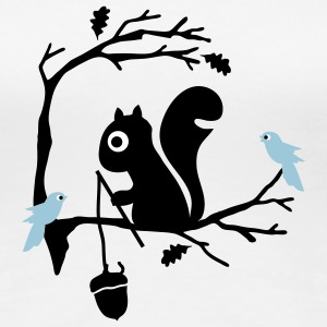 White Squirrel Women's T-Shirts - Women's Premium T-Shirt