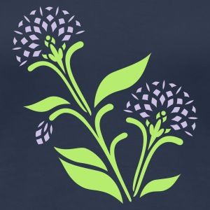 Light navy Kornblumen / cornflowers (asteracea, 2c) T-Shirts - Frauen Premium T-Shirt