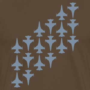 Brun Fighter Jets T-shirts - Herre premium T-shirt