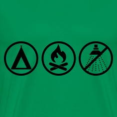 Moss green Camping - Pathfinder Men's T-Shirts