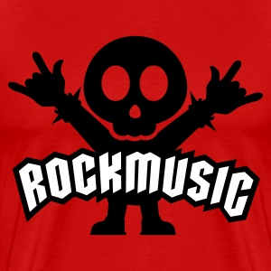 Rot Rock Music Metal Sign Two Fingers T-Shirts - Männer Premium T-Shirt