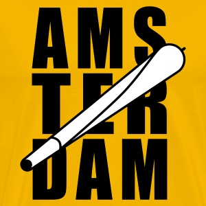 Yellow Amsterdam Holland Joint 2farbig Men's T-Shirts - Men's Premium T-Shirt