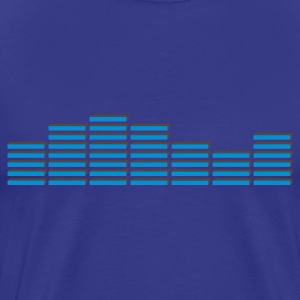 Himmelblå EQ EQUALIZER frequenz BEAT MUSIK SOUND TECHNO ELECTRO MIXER DJ T-shirts - Herre premium T-shirt