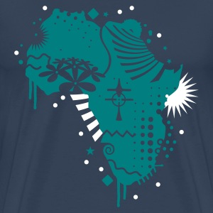 Dark navy Africa cradle of humanity  Men's T-Shirts - Men's Premium T-Shirt