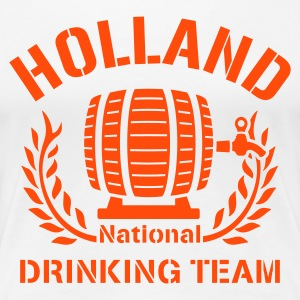 Wit HOLLAND DRINKING TEAM T-shirts - Vrouwen Premium T-shirt