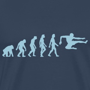 Navy Evolution of Karate (1c) Men's T-Shirts - Men's Premium T-Shirt