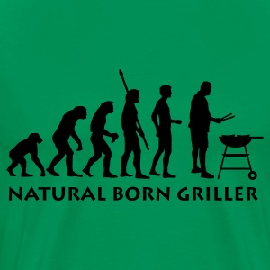 Moss green natural_born_griller_1c Men's T-Shirts - Men's Premium T-Shirt