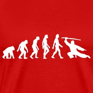 Red Evolution of Martial Arts (1c) Men's T-Shirts - Men's Premium T-Shirt