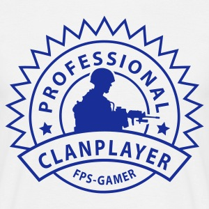 Sandbeige prof_clanplayer_1_no T-skjorter - T-skjorte for menn