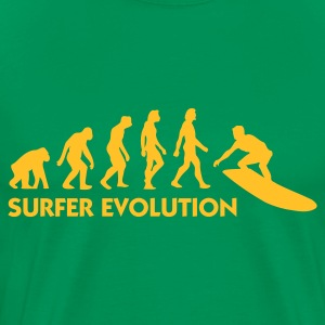Forest green Evolution of Surfing 3 (1c) Men's T-Shirts - Men's Premium T-Shirt
