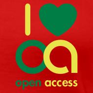 Motiv ~ I love Open Access Girlieshirt