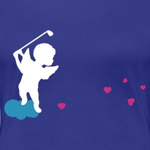 Divablau golf_engel T-Shirts - Frauen Premium T-Shirt