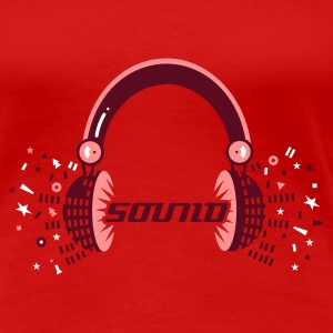Red Headphones Sound Design Women's T-Shirts - Women's Premium T-Shirt