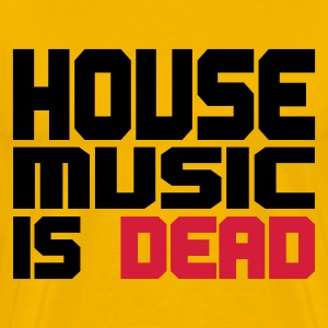 Geel house_music_is_dead_duocolor T-shirts - Mannen Premium T-shirt