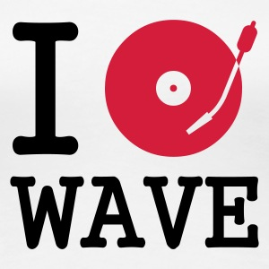:: I dj / play / listen to wave :-: - Women's Premium T-Shirt