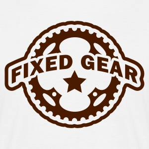 Fixed Gear Fixie Chainring T-Shirts - Men's T-Shirt