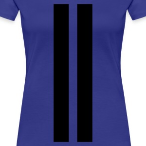 Turchese Racing stripes T-shirt - Maglietta Premium da donna