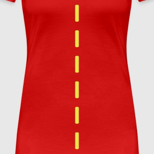 Rouge pointillés / dashed (1c) T-shirts - T-shirt Premium Femme