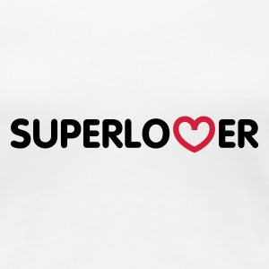 Weiß Superlover © T-Shirts - Frauen Premium T-Shirt