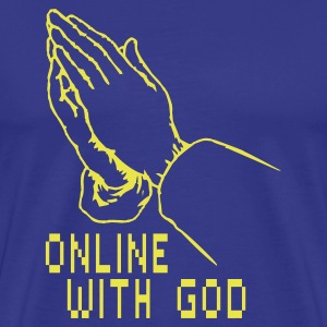Online with God T-Shirts - Männer Premium T-Shirt