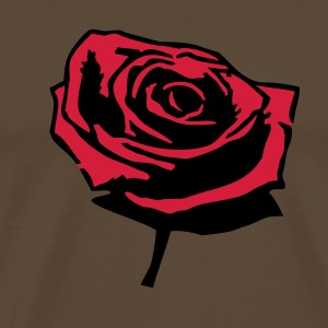 ädelbrun Red_rose T-shirts - Camiseta premium hombre