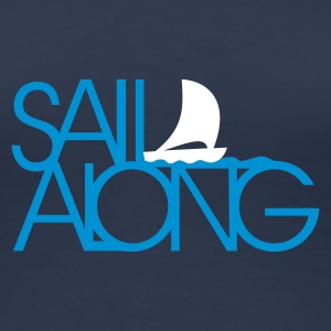 Light navy sail along (2c) T-Shirts - Frauen Premium T-Shirt