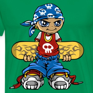 Skater boy and bandana t-shirt - Men's Premium T-Shirt