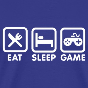 Koningsblauw EAT - SLEEP - GAME T-shirts - Mannen Premium T-shirt