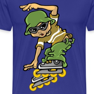Roller boy and sunhat - Men's Premium T-Shirt