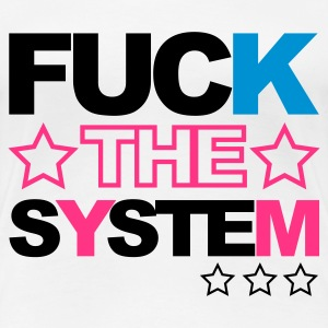 Wit Fuck the System V2 T-shirts - Vrouwen Premium T-shirt