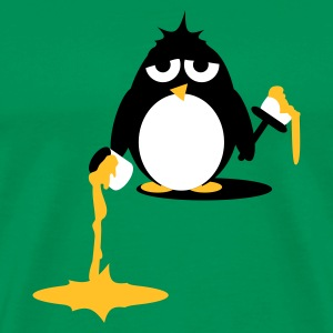 Kelly green  Pinguin beim malern- Do it yourself T-Shirts - Männer Premium T-Shirt