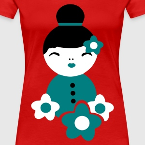 Rot little geisha T-Shirts - Frauen Premium T-Shirt