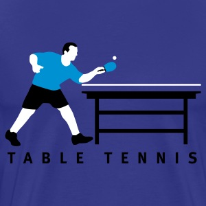 Royalblau table_tennis_b_3c T-Shirts - Männer Premium T-Shirt