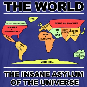 Sky THE WORLD -INSANE ASYLUM T-Shirts - Männer Premium T-Shirt
