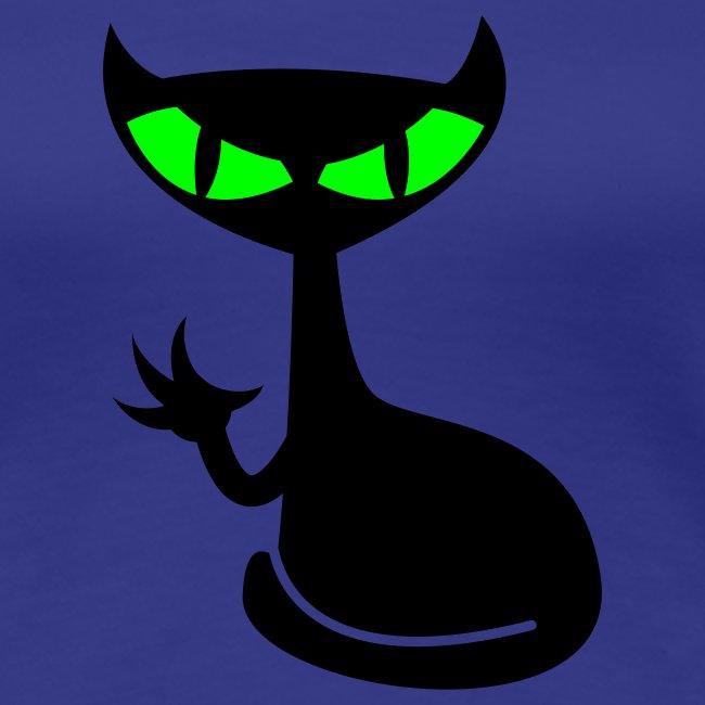 Catfight - divablau girlieshirt