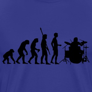 evolution_drummer_1c T-Shirts - Men's Premium T-Shirt