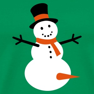 Kelly green Snow fun Men's T-Shirts - Men's Premium T-Shirt