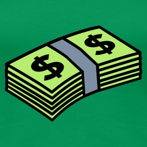 Grasgrün Money dollars 3 colors T-Shirts - Frauen Premium T-Shirt