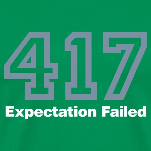 Bottlegreen Error 417 © T-Shirts - Premium T-skjorte for menn