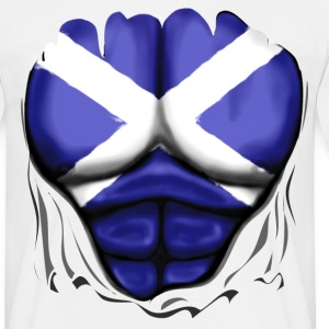 Scotland Flag Ripped Muscles, six pack, chest t-sh - Men's T-Shirt