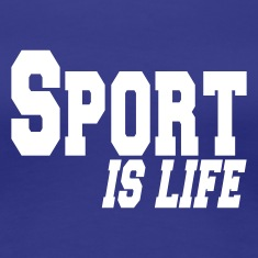 blue sport is life Women's T-Shirts